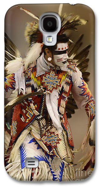 Pow Wow Chicken Dancer 12 Galaxy S4 Case by Bob Christopher