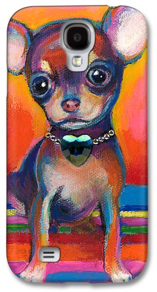 Cute Puppy Galaxy S4 Cases - Chihuahua dog portrait Galaxy S4 Case by Svetlana Novikova