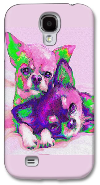 Chihuahua Love Galaxy S4 Case by Jane Schnetlage
