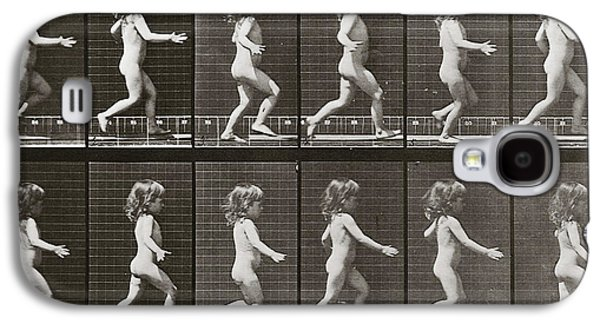 Child Running, Plate 469 From Animal Locomotion, 1887 Galaxy S4 Case by Eadweard Muybridge