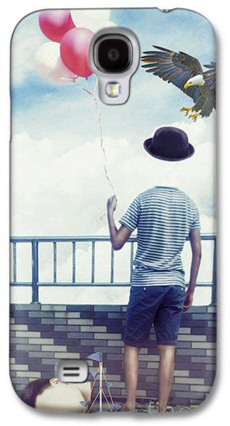 Childish Boy Has Lost His Head Galaxy S4 Case by KaFra Art
