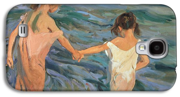 Children In The Sea Galaxy S4 Case by Joaquin Sorolla y Bastida