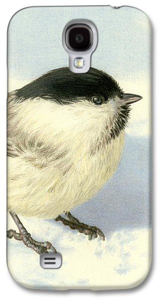 Chilly Chickadee Galaxy S4 Case by Sarah Batalka