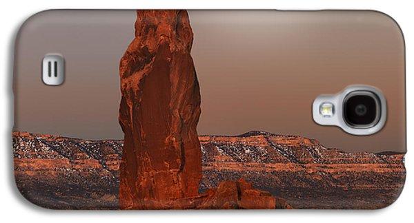 Chimney Rock Moon Galaxy S4 Case by Leland D Howard