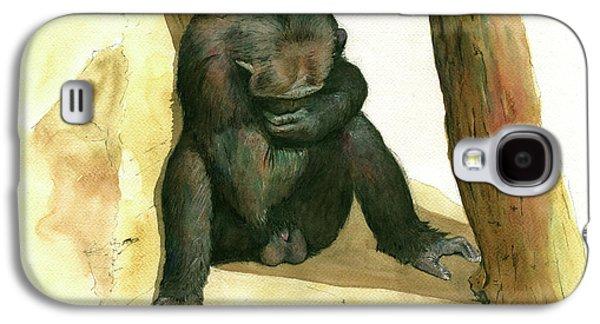 Chimp Galaxy S4 Case by Juan Bosco