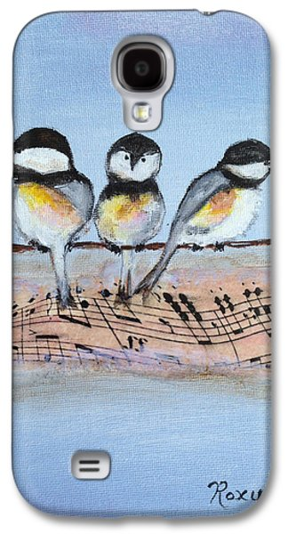 Chirpy Chickadees Galaxy S4 Case by Roxy Rich