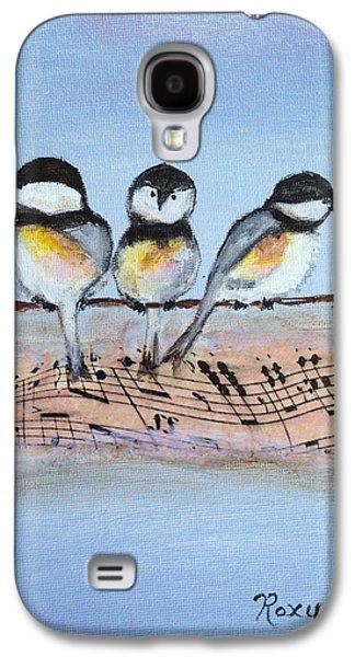 Chirpy Chickadees Galaxy S4 Case by Roxy Rich