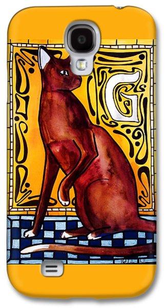 Chocolate Delight - Havana Brown Cat - Cat Art By Dora Hathazi Mendes Galaxy S4 Case