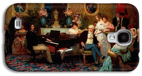 Chopin Playing The Piano In Prince Radziwills Salon Galaxy S4 Case by Hendrik Siemiradzki