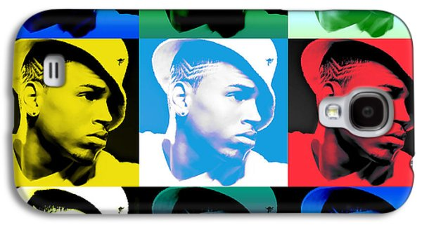 Lil Wayne Galaxy S4 Cases - CHris Brown Warhol by GBS Galaxy S4 Case by Anibal Diaz