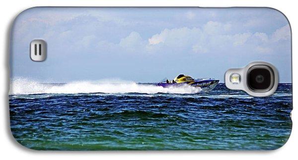 Wild Racers Galaxy S4 Case - Chris Gone Wilder 112 Power Boat by Debbie Oppermann