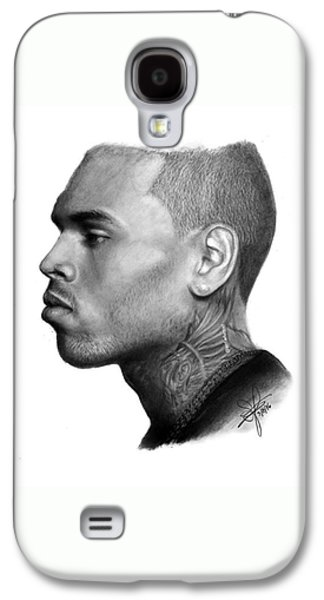 Chris Brown Drawing By Sofia Furniel Galaxy S4 Case