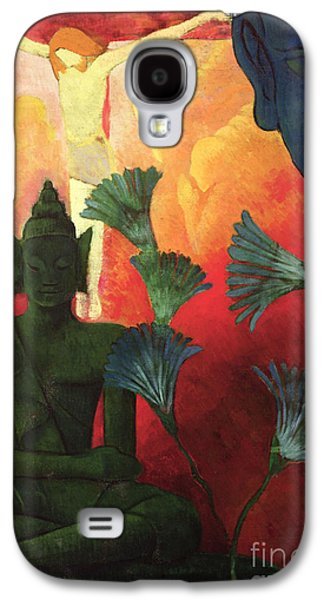 Christ And Buddha Galaxy S4 Case by Paul Ranson