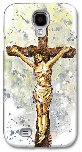 Christ And Mouse In Kilburn Galaxy S4 Case by Miki De Goodaboom