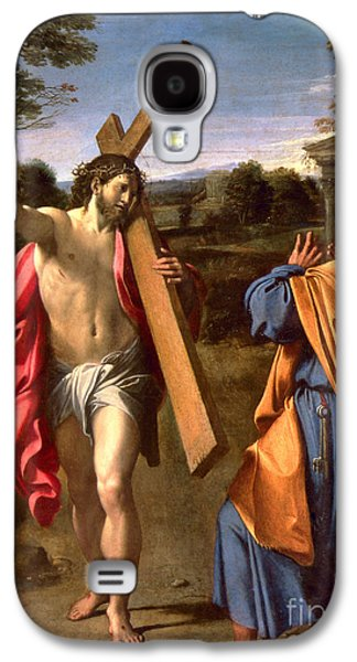 Christ Appearing To St. Peter On The Appian Way Galaxy S4 Case by Annibale Carracci