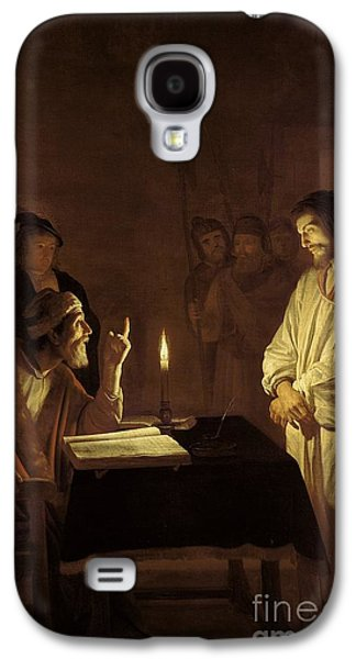 Christ Before The High Priest Galaxy S4 Case by Gerrit van Honthorst