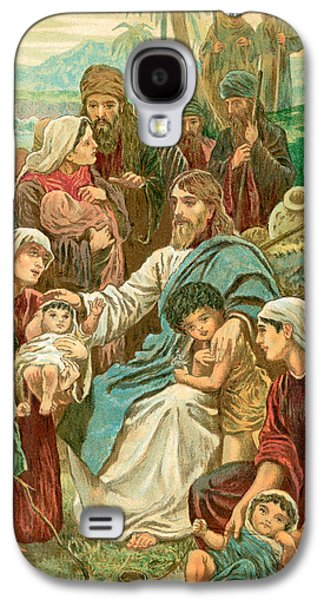 Christ Blessing Little Children Galaxy S4 Case