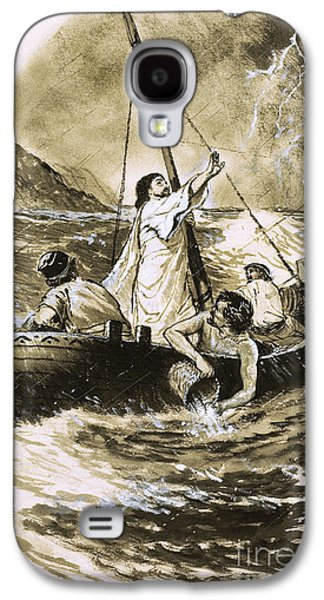 Christ Calming The Storm Galaxy S4 Case by Clive Uptton