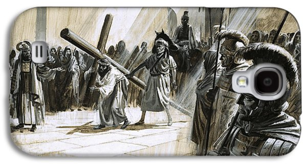 Christ Carrying The Cross Galaxy S4 Case by Andrew Howat