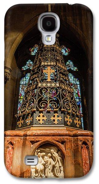 Christ Church With Saint Mary Font Galaxy S4 Case by Jacek Wojnarowski