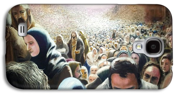 Christ Feeds The Five Thousand Galaxy S4 Case by Oliver McParland