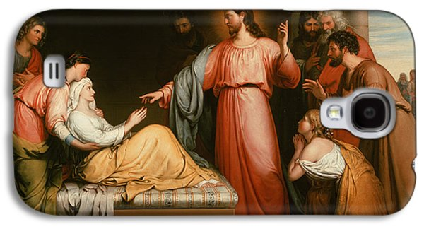 Christ Healing The Mother Of Simon Peter Galaxy S4 Case by John Bridges