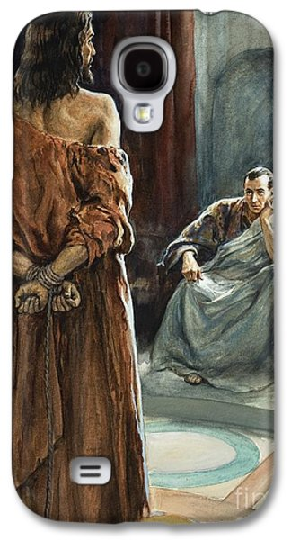 Christ In Front Of Pontius Pilate Galaxy S4 Case