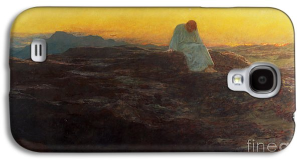 Christ In The Wilderness Galaxy S4 Case by Briton Riviere