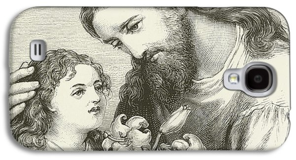 Christ Receiving A Child Galaxy S4 Case by English School