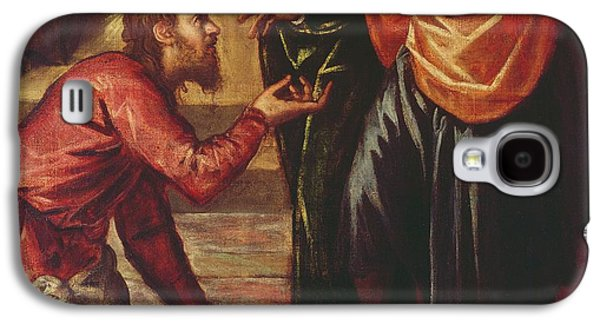 Christ Washing The Feet Of The Disciples Galaxy S4 Case by Tintoretto