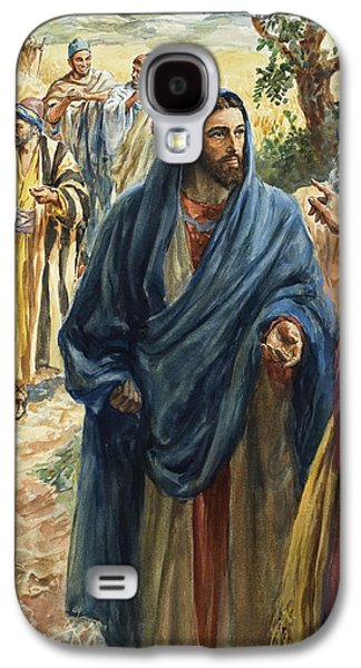 Christ With His Disciples Galaxy S4 Case by Henry Coller