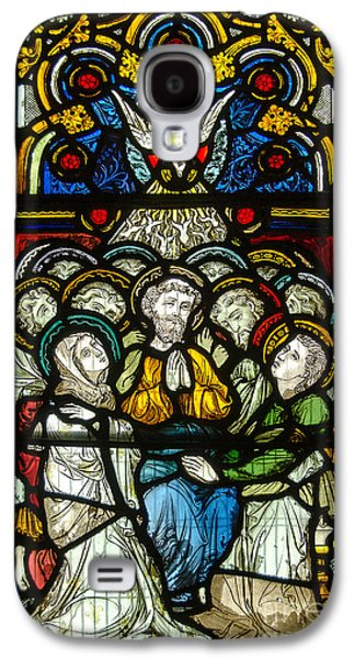 Christian Pentecost On A Stained Glass At Christ Chuch Cathedral Dublin Galaxy S4 Case