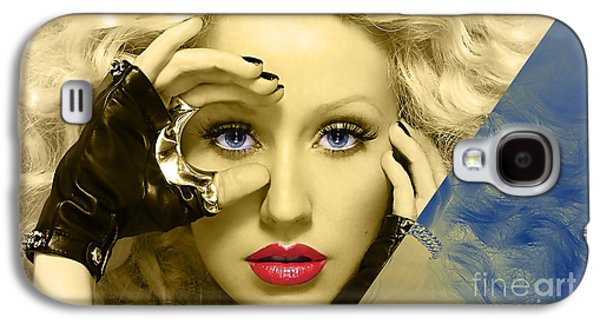 Christina Augilera Collection Galaxy S4 Case by Marvin Blaine