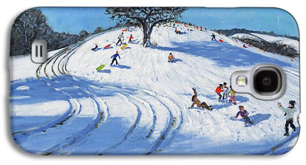 Christmas, Burley Lane, Derby Galaxy S4 Case by Andrew Macara