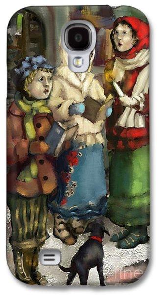 Christmas Carol 2 Galaxy S4 Case by Carrie Joy Byrnes