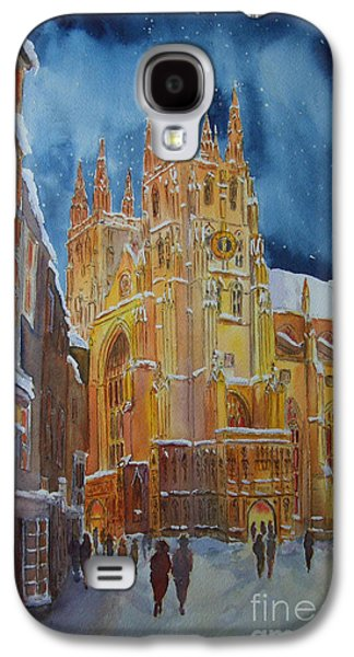 Christmas In Canterbury Galaxy S4 Case by Beatrice Cloake