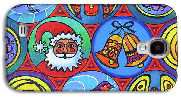 Christmas In Circles Galaxy S4 Case by Jane Tattersfield