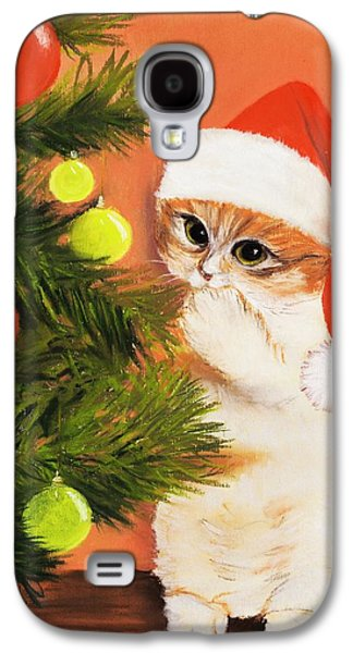 Christmas Kitty Galaxy S4 Case