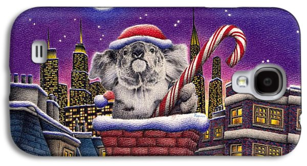 Christmas Koala In Chimney Galaxy S4 Case by Remrov