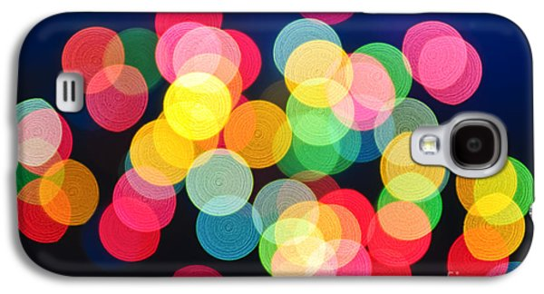 Blurred Galaxy S4 Cases - Christmas lights abstract Galaxy S4 Case by Elena Elisseeva