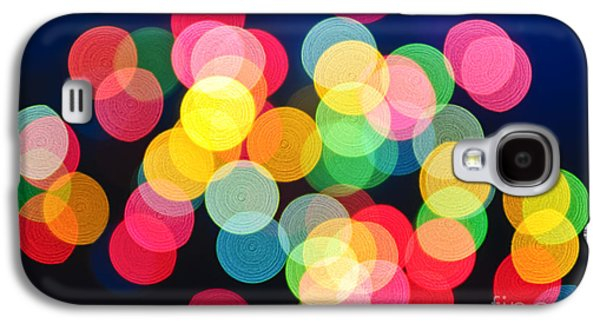 Christmas Lights Abstract Galaxy S4 Case