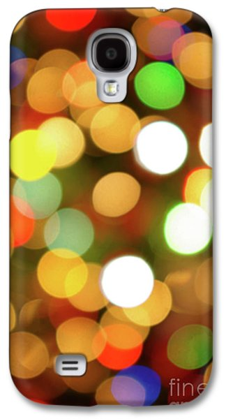 Wishes Galaxy S4 Cases - Christmas Lights Galaxy S4 Case by Carlos Caetano