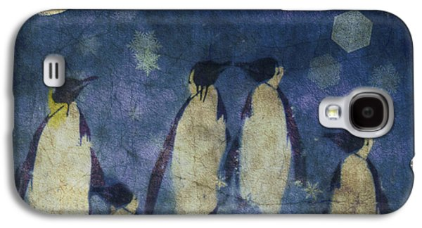 Penguin Galaxy S4 Case - Christmas Moon  by Paul Lovering