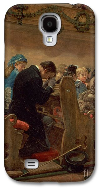 Religious Galaxy S4 Cases - Christmas Prayers Galaxy S4 Case by Henry Bacon