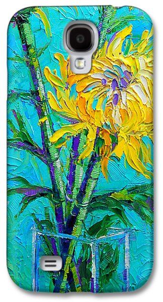 Chrysanthemums In A Vase Galaxy S4 Case by Mona Edulesco