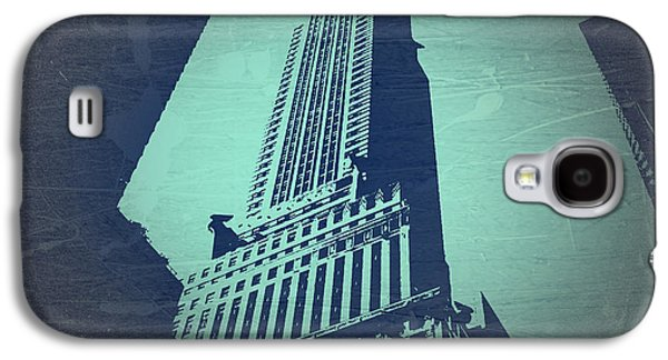 Buildings Digital Galaxy S4 Cases - Chrysler Building  Galaxy S4 Case by Naxart Studio