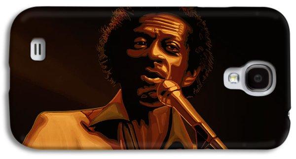 Chuck Berry Gold Galaxy S4 Case by Paul Meijering