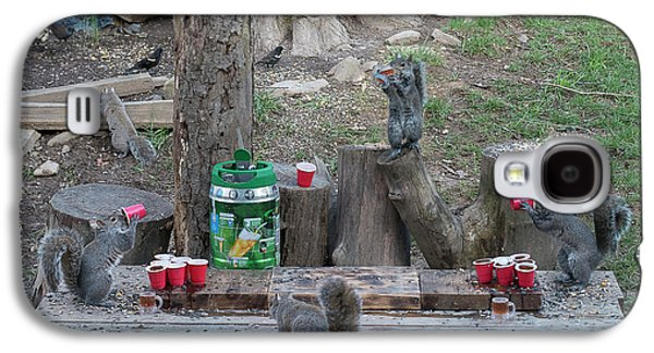 Chugging Squirrels At Beer Pong Galaxy S4 Case
