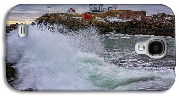 Churning Seas At Cape Neddick Galaxy S4 Case