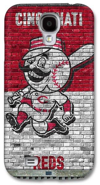Cincinnati Reds Brick Wall Galaxy S4 Case by Joe Hamilton